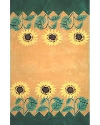 sunflower area rug bright kitchen rugs large