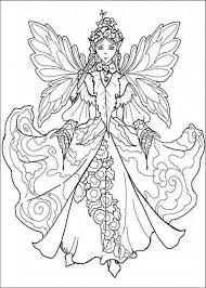 Coloring Pages Cool Fairy Princess Coloring Pages For Adults