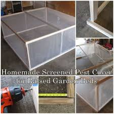 this homemade screened pest cover for raised garden beds will show you how this amazing cover is the perfect companion for your backyard raised bed
