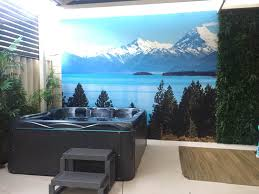this is a 3 6m by 3m wall mural great effect as you can see clients photo reproduced a great outdoor space to recall those memories