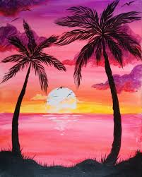 800x998 large zoom image paint nite palm sunset and city
