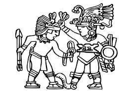 Small Picture Coloring page Aztec murals img 25572 Coloring Pinterest