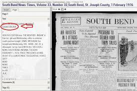 1800 Newspaper Template Hoosier State Chronicles Indianas Digital Newspaper Program