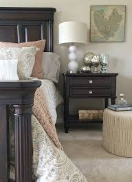 darkwood bedroom furniture. looking to lighten up your dark bedroom furniture try adding new paisley bedding in soft darkwood d