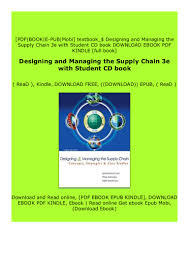 Designing And Managing The Supply Chain Ebook Download _p D F Designing And Managing The Supply Chain 3e