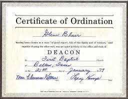 Ordination Certificate Template Ordained Minister Certificate Template Fresh Pastor Ordination
