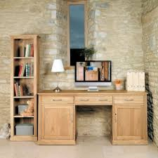 mobel oak wall rack cor07b. Mobel Oak Large Hidden Office Twin Pedestal Desk COR06D Wall Rack Cor07b A