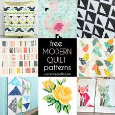 Free Modern Quilt Patterns - U Create & Tons of FREE Modern Quilt Tutorials at U Create Adamdwight.com