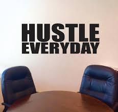 wall decal for office. Hustle Everyday Wall Decal, Motivational Inspirational Office Decor Decal For