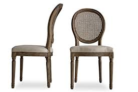 edloe finch carina louis french country upholstered dining chairs cane back dining room chairs
