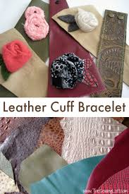 leather cuff bracelet tutorial the sewing loft