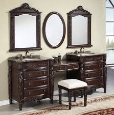 bathrooms design interior furniture bathroom antique brown high gloss finis wooden vanity with combo sink and