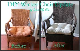painted wicker furniturespray paint wicker furniture  Sweet Silly Chic