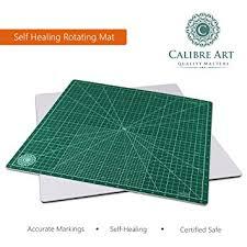 Amazon.com: Calibre Art Self Healing Rotating Cutting Mat, Perfect ... & Calibre Art Self Healing Rotating Cutting Mat, Perfect for Quilting & Art  Projects, 18x18 Adamdwight.com