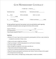 Gym Membership Contracts Templates Under Fontanacountryinn Com
