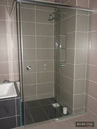 shower screen swing door tempered glass