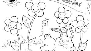 Free Printable Springtime Coloring Sheets Pages Spring Color Kids
