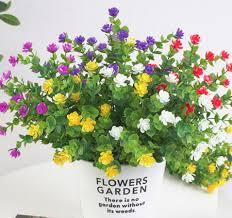 6pcs artificial flowers faux plastic