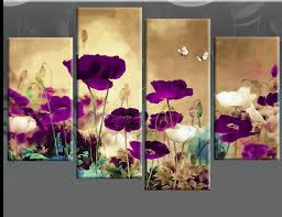 plum coloured canvas wall art
