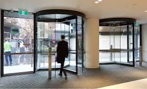 the hybrid series is a revolving door that combines the frameless glass sidewall design of our diamond series with the conventional canopy design of our