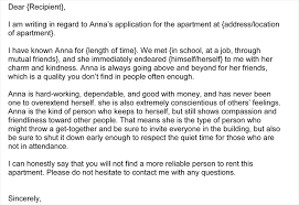 character reference samples ideas of personal reference letter template for housing in 5 samples