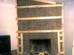ideas to cover brick fireplace how to cover a fireplace using sheet rock ways to ideas to cover brick fireplace