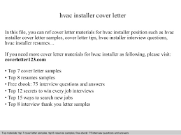 Resume Air Conditioning Installer Cover Letter Best Inspiration