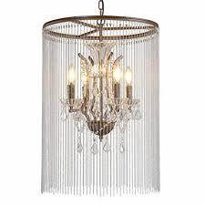 electro bp szbp1707 art noble retro vintage metal chandelier with bead chain 4 lights painted