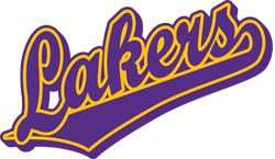 Team Pride: Lakers team script logo