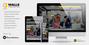 Construction Website Templates Simple Walls Construction MUSE Template By Rometheme ThemeForest