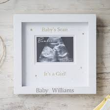 personalised baby girl scan frame