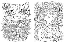 best cat coloring bookges collection for kids books therapy cat mother and her kitten kitten coloring pages cat coloring book