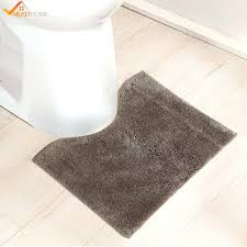 toilet rug bathroom mats microfiber non slip for u shape natural latex back sets brown rugs long bathroom rugs brown