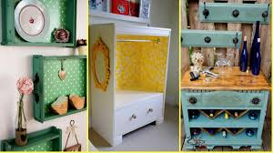 diy repurposed old drawers ideas recycled furniture home decor