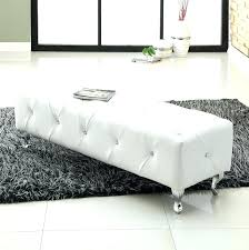white leather coffee table ottoman round sleigh bed new upholstered in plan roun