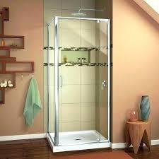 aqua glass shower door sweep stall installation closed enclosure sho