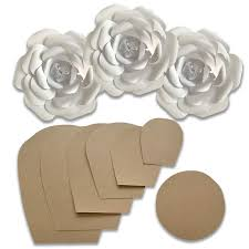 Flower Templates For Paper Flowers Paper Flower Template Kit Make Your Own Paper Flowers Paper Flowers Decoration Make Unlimited Flowers Diy Do It Yourself Make All Sizes