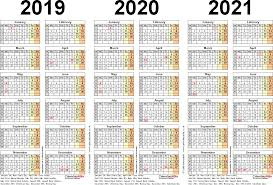 3 Year Calendar Three Year Calendars For 2019 2020 2021 Uk For Pdf