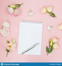flat lay magazines social a top view beauty business concept pink flowers and tea on pastel pink background wedding to do list