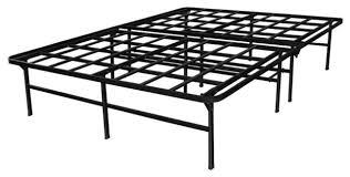 metal platform bed frame. Queen Size Heavy Duty Metal Platform Bed Frame, Supports Up To 4,400 Lbs Frame