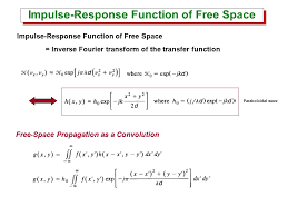 17 impulse response function of free space inverse fourier transform