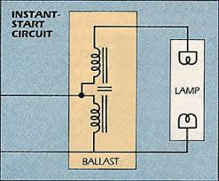 fluorescent lamp instant start circuit