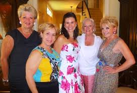 Caitlin's Bridal Shower: Caitlin with shower hosts Peggy Martay ...