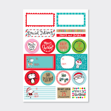 Christmas Labels Merry Bright Rachel Ellen Designs