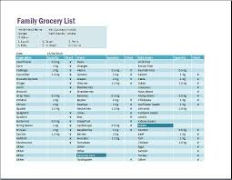 Family Schedule Grocery List Template Word & Excel Templates, Family ...