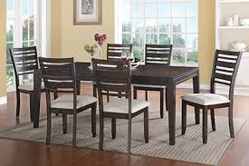 nova stylish and sophisticated contemporary 7 piece parsons diningroom group in handsome hickory veneers and hardwood solids finished in a rich deep