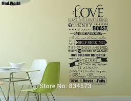 Bible Love Quotes Best Mad World Bible Verse Love Is Patient Kind Quote Wall Art Stickers
