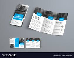 Ebrochure Template Tri Fold Brochure Template With Blue Rectangular