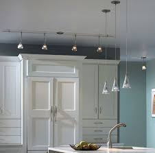 sleek track lighting in a modern style kitchen