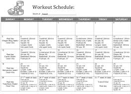67 Prototypal Weekly Workout Routine Chart